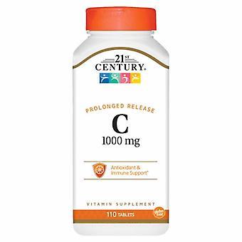 21st Århundre Vitamin C Langvarig Utgivelse, 1000mg, 110 Faner