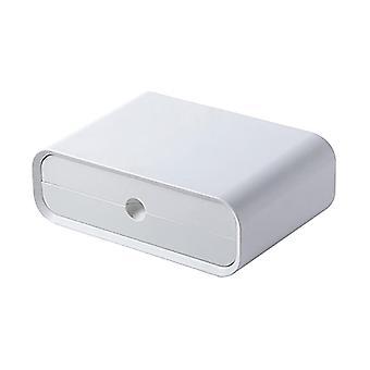 Monitoiminen tietokoneen näytön jalusta näyttö hylly työpöydän säilytysteline säilytyssäiliö valkoinen