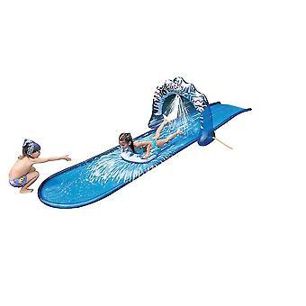 500X120.5cm  children's waterslide outdoor grass waterslide blue arch waterslide homi4872