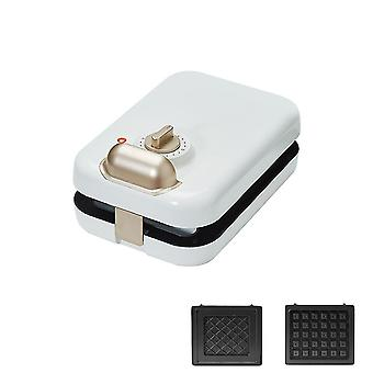 White 2 pcs multifunctional sandwich/waffle breakfast machine (multiple plates) homi2847