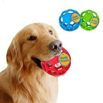 Drain Food Ball Dog Toy Natural Non-toxic Rubber Teddy Golden Dog Geometric Toy Ball Bite-resistant Teeth