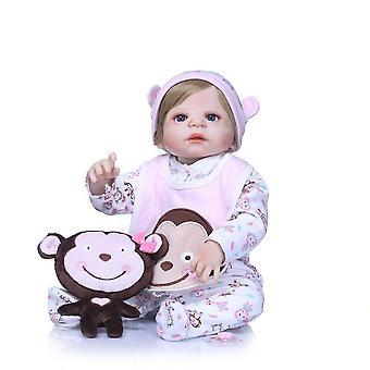 Reborn bebe alive bonecas handmade lifelike reborn baby doll full body vinyl silicone with pacifier gift toys for girl