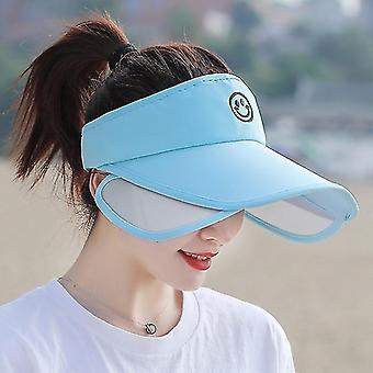 קיץ נשים שוליים הרחבת מצחייה ריקה העליון סגנון ספורט נקבה Sunshade כובעים(כתיאור)