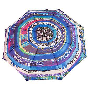 Biggdesign Evil Eye Mini Umbrella, Coupe-vent, Tissu Pongee imperméable, 98 cm de diamètre, Automatique on, off Parapluie de voyage compact