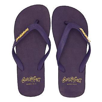 BeachyFeet Mens Azul Marino Flip Flops