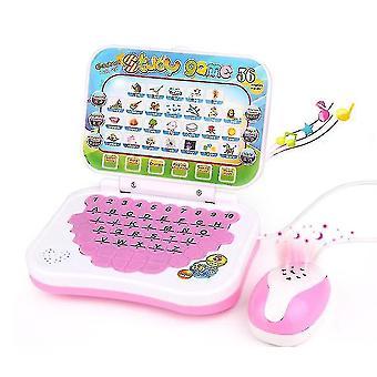 Cartoon Kinder Lernmaschine, Falten Englisch Lernen Lernspielzeug (Pink)