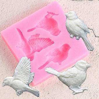 Sugarcraft Birds Fondant Silicone Mold - Cake Decorating Tools Candy Clay