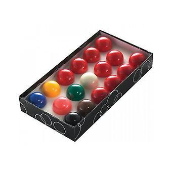PowerGlide Classic Standard 17 Snooker Ball Set 37,5 milímetros - Encaixotado