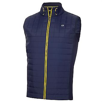 Calvin Klein Golf Mens Vardon Gilet Full Zip Sleeveless 2 Hand Pockets Vest Top