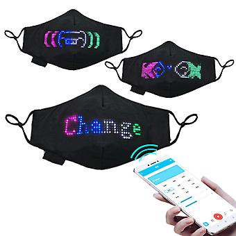 LED Luminous  Mask Programmable Message Display Face Mask App Controlled Prop