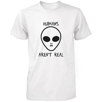 Människor är inte verklig främmande mäns rolig T Shirt humoristiska söt grafisk Tshirt rolig tröja