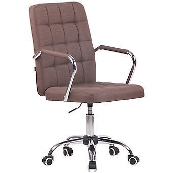Toimistotuoli - Työpöytätuoli - Kotitoimisto - Moderni - Ruskea - Metalli - 56 cm x 60 cm x 93 cm