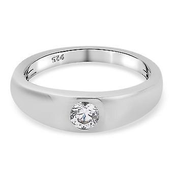 J Francis Verlobung Solitär Ring Swarovski Zirkonia für Damen Silber 0.46ct(K)