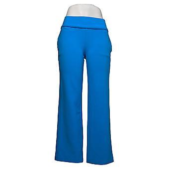 DG2 by Diane Gilman Dames Petite Pants Crepe Pull-On Broek Blauw 687691