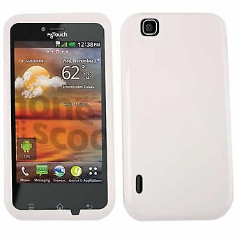 Unlimited Cellular Snap-On Case for LG myTouch E739 (Honey White)
