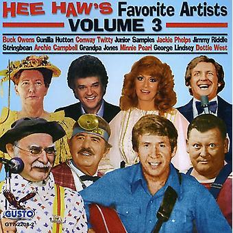 Hee Haw Favoriter - Vol. 3-Hee Haw favoriter [CD] USA import