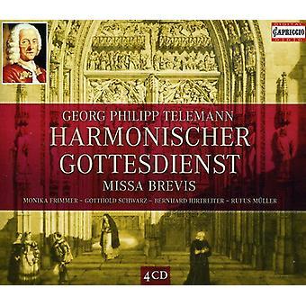 G.P. Telemann - Geog Philipp Telemann: Harmonischer Gottesdienst; Missa Brevis [CD] USA import