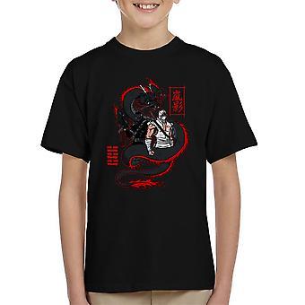 Arashikage Clan Storm Shadow Snake Eyes GI Dragon Joe Kid's T-Shirt