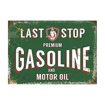 Original Metal Sign Co store benzin 30 x 40cm