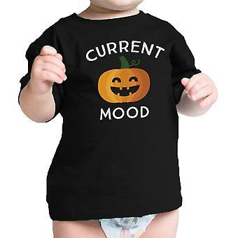 طفل لطيف المزاج الحالي اليقطين كوم الرسم بيبي اليقطين سوداء قميص