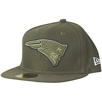 Nova era 59Fifty Cap - saudação ao serviço New England Patriots