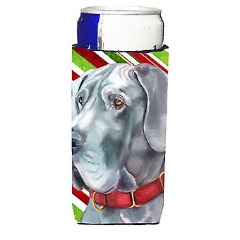 Great Dane Candy Cane Holiday Christmas Ultra Beverage Insulators for slim cans