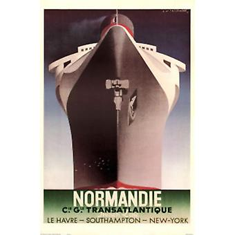 Normandie Poster Print by Adolphe Mouron Cassandre (24 x 36)