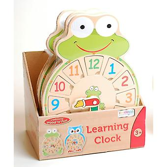 Traditional Wood 'n' Fun Learning Clock