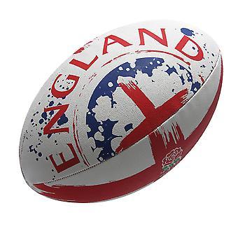 GILBERT Engeland vlag rugbybal [wit/rood]