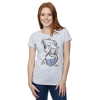 Congelado Elsa Sketch Mono t-shirt Disney feminino
