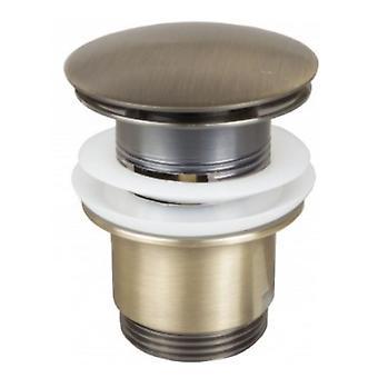 Salle de bain rétro laiton Antique fendue ronde bouton déchets bassin Plug clic clac