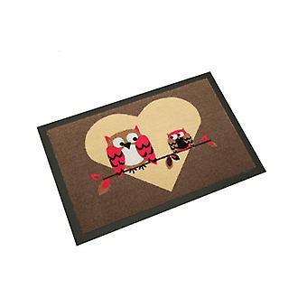 Alfombras de piso de diseño amor buho | Captura la suciedad alfombras 40 x 60 cm 101774