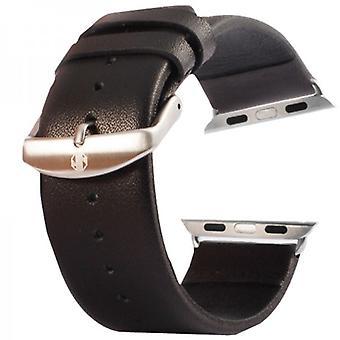 Cinturino in pelle per Apple Watch di iWatch 42 mm inc. Adattatore nero