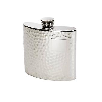 4Oz Hammered Pewter Kidney Hip Flask