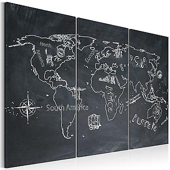 Canvas Print - Travel broadens the mind - triptych