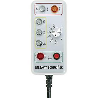 Testboy Testavit Schuki 2K Mains outlet tester CAT III 300 V LED