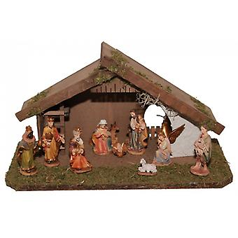 Crib Nativity JOSEPH wood crib Christmas Nativity stable