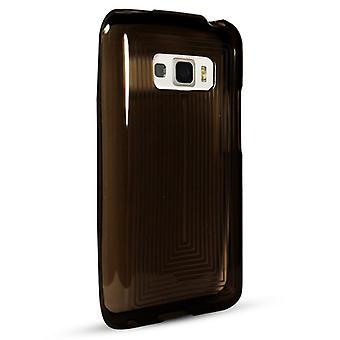 Technocel Slider Skin with Line Pattern LG696SSBK for LG LS696 Optimus Elite (Black)
