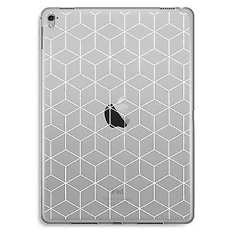 iPad Pro 9,7 tommers gjennomsiktig sak (myk) - kuber svart-hvitt