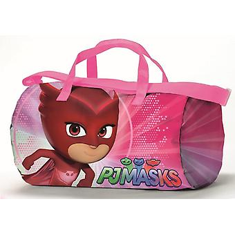 Bolsa de deporte y Super Gufetta rosa pijama PJ viaje máscaras