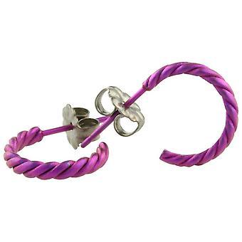 Ti2 Titanium kleine verdreht Creolen - Candy Pink