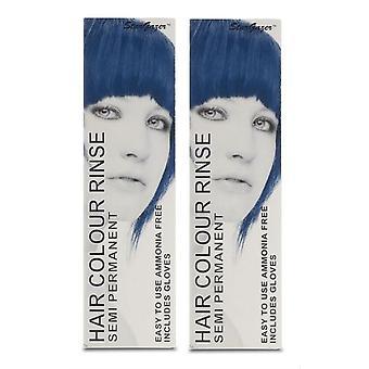 Stargazer półtrwałe kolor włosów farbować niebieski czarny (2-Pack)