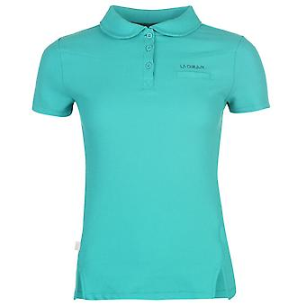 LA Gear Womens Pique Polo Shirt Ladies
