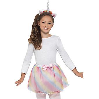 Unicorn Set Girls Kostüm Aksesuar Tutu Headband Carnival Unicorn Kit