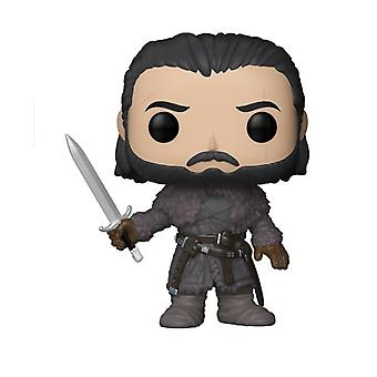 Game of Thrones Pop! Vinyl Figur 61 Jon Snow bedruckt, aus Kunststoff, von Funko, in Geschenkkarton.