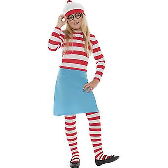 Where's Wally Wenda Child Costume, Medium Age 7-9