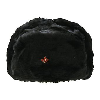 Real Russian Cossacks Winter Fur Hat With Badge