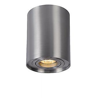 Lucide tubo cilindro moderno alluminio satinato cromo Plafoniera Spot