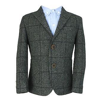 Couche Tot ragazzi grigio lana Tweed 4 Piece Suit Set