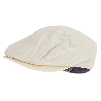 Tom Franks Mens Linen Flat Cap